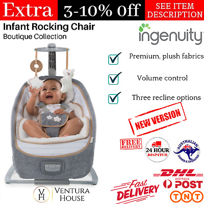Ingenuity Infant Rocking Chair with Vibration & Music Cradling Baby Rocker Seat