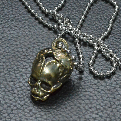 Unique Brass copper Human Baby Skull Bead Lost wax casting Polished Pendant