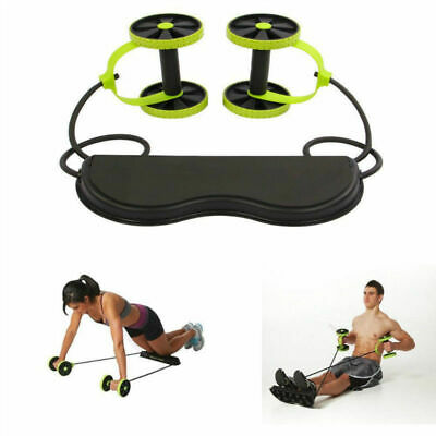 *Abdominal Muscle Power Roll Trainer Waist Exerciser Core Training Wheel Fitness