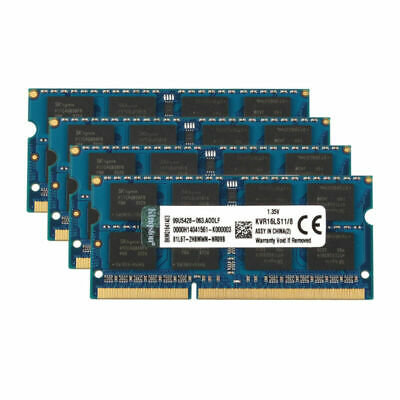 For Kingston 8GB 2RX8 PC3L-12800S DDR3 1600MHz SO-DIMM Laptop Memory RAM