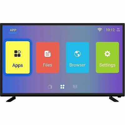 electriQ 43 Inch Android Smart HDR 4K Ultra HD LED TV Freeview HD 3 HDMI