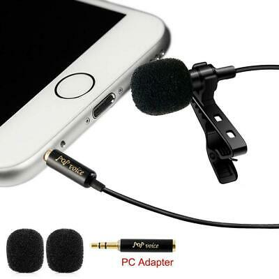 PoP Voice Professional #1 Best Lavalier Lapel Microphone Omnidirectional Condens