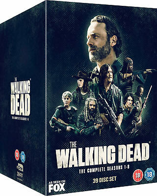 The Walking Dead Series 1-8 Complete Dvd Box Set New And Sealed Seasons