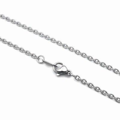 """5 x Stainless Steel 20"""" / 51cm Cable Chain Necklaces 3x2mm - 316 Surgical Grade"""