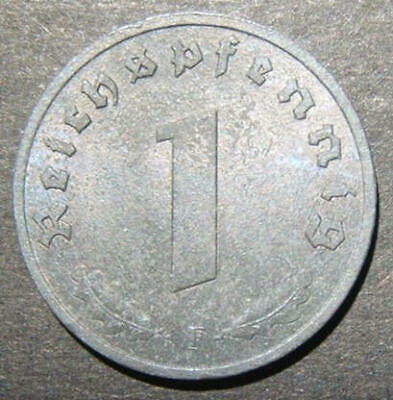 Germany allied-occupation issue 1 Pfennig coin 1945 F, UNC; KM-A103