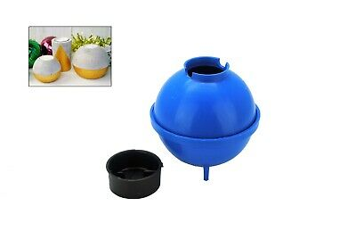 """3x Round Sphere 3"""" Dia Concrete Mold Moulds with Tealight Candle Holders. S7845"""