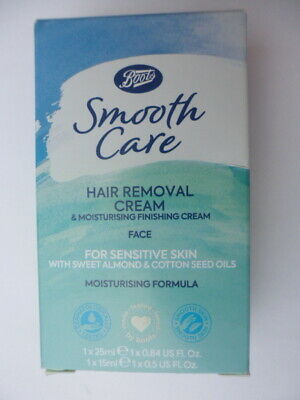 Boots SMOOTH CARE HAIR REMOVAL FACE CREAM & FINISHING CREAM * Sensitive skin