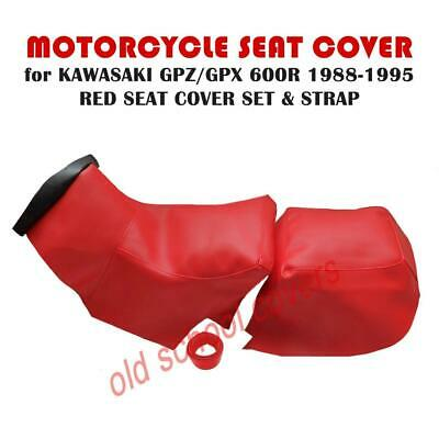 Kawasaki Gpz600 R Gpx600 R 1988-95 Red Twin Seat Covers With Strap