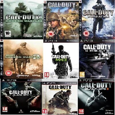 Call of Duty PS3 Assorted Games PS3 Mint Condition - PICK ONE OR BUNDLE THEM