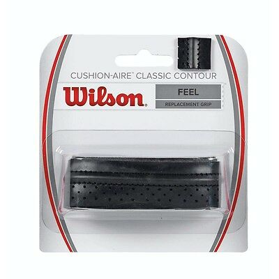 Wilson Cushion Aire Classic Contour Replacement Racket Grip Black Tennis Squash