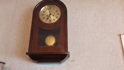 Wall Clock with Stroke - Pendulum - Walnut