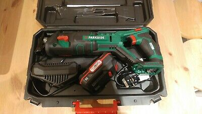 PARKSIDE PSSA 20-Li Cordless Sabre Saw With 20V 2Ah Li-ion Battery and charger