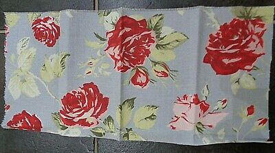 """Handmade Shabby Chic Canvas Picture With Cath Kidston Camden Red Fabric 8/"""" x 10/"""""""