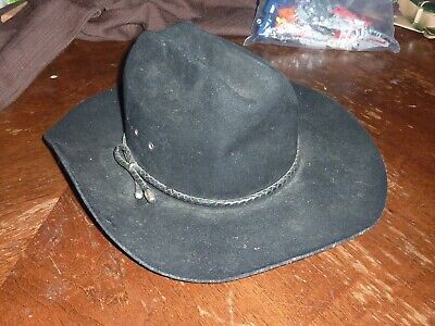 91c0179c2fde5 Bailey XX Wool Blend Cowboy Hat Western Black Color Style Used Geaorge S.  Bailey