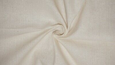 "Cotton Calico Fabric Loomstate Unbleached Medium Weight Toile Material 63"" Wide"