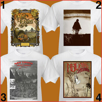 NEIL YOUNG TShirt S-2XL 3XL poster prints Harvest Moon, Free World, Crazy Horse
