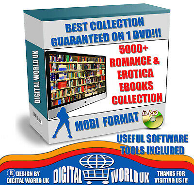 5000+ Romance and Erotica Ebooks Collection - MOBI Format in 1 DVD - Cheapest!!