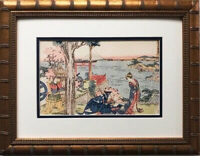 "Katsushika Hokusai ""Woodcut"" 1806 New Custom Framed Asian Art Japan Geisha"