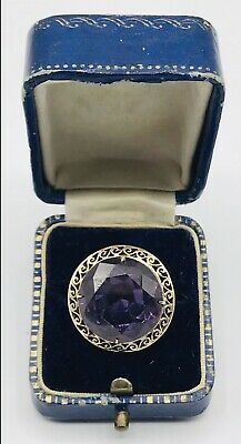 Antique Deco 14k Solid Rose Gold Lab Created Alexandrite Ring 6.5