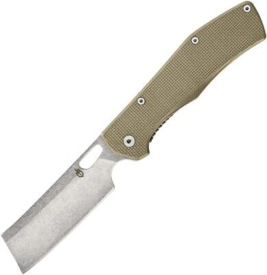 Gerber Flatiron Coyote Tan G10 Cleaver Stainless Folding Pocket Knife 1495