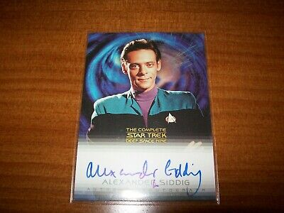 Star Trek Complete Deep Space Nine DS9 Alexander Siddig A11 Autograph Card