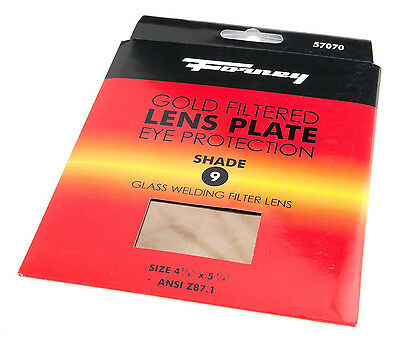 Forney 57070 Lens Gold Welding Filter, 4-1/2in-by-5-1/4in, Shade-9