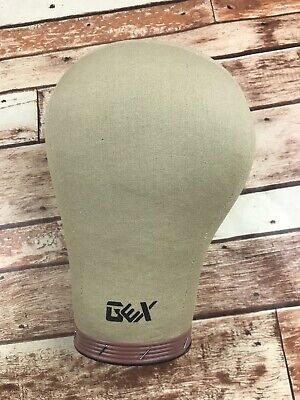 GEX Cork Canvas Block Head Mannequin Head Wig Display Styling Head Hole Mount