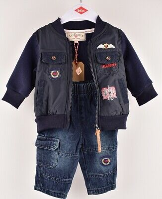 LEE COOPER Baby Boys' 2pc Outfit Set, Jacket & Jeans, size 3 months