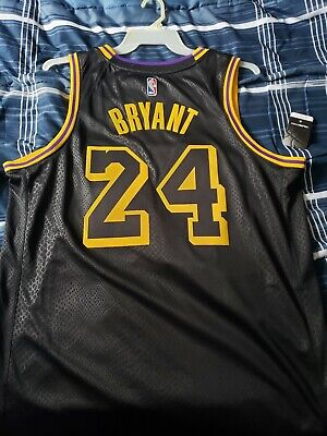 c4240a765ab Nike NBA LA Lakers Kobe Bryant 24 City Edition Jersey Black Men s XL MSRP   120