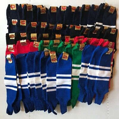 Huge Lot Of 54 Vintage Stirrup Baseball Socks By Magic Fleece: Various Colors