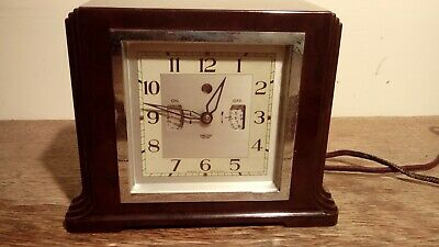 Smiths Sectric Bakelite Art Deco Mantle Clock With Original Wiring.