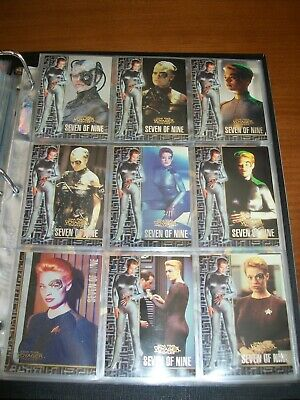 STAR TREK VOYAGER PROFILES FROM SKYBOX Seven Of Nine Chase Set 9 Cards