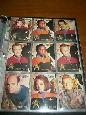 """STAR TREK VOYAGER PROFILES FROM SKYBOX Autograph Callenge Game Set except """"Y"""""""