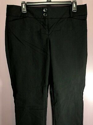 5f0eea16621 The Limited Size 12 Pants Black Straight Rise Stretch Zipper Closure BA23