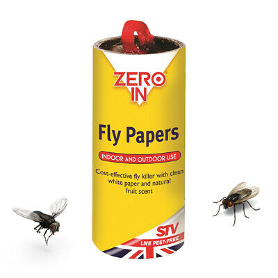 Zero In Sticky Fly Killer Paper for Catching Flies and Insects Trap Stickers
