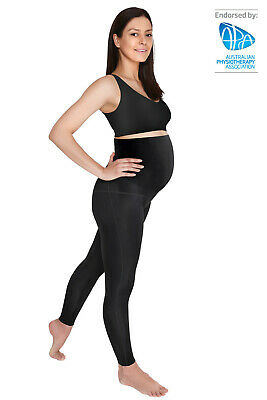 SRC PREGNANCY LEGGINGS OVER THE BUMP BLACK for Pregnancy Support - All Sizes