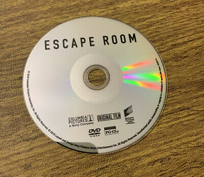 Escape Room (DVD,,2019), No Blue Ray, No Dig, No Case DVD ONLY