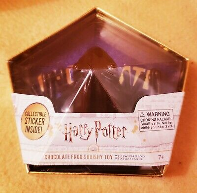Harry Potter Chocolate Frog Squishy Toy W/ Wizard & Witches Collectible Sticker