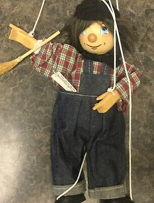 Vintage Marionette String Wood Puppet CHIMNEY SWEEP Tellon Collection NEW