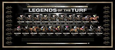 Legends Of The Turf Signed Lithograph Frame