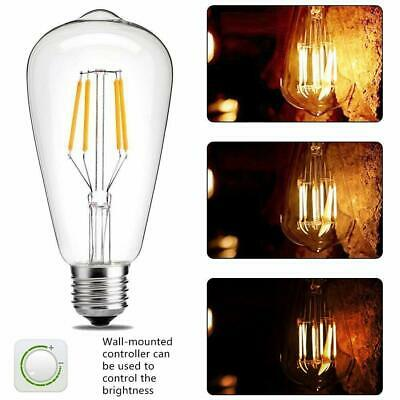 4 Pack Vintage Dimmable LED Edison Bulb 8W Light Base Lamp Office Wall Fixtures