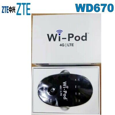 WIPOD WD670 ZTE Router Hotspot 4G LTE 850/1800/2300 MHZ 31 Users USA