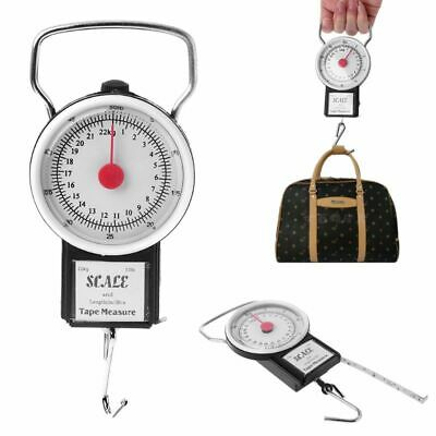 22kg/50lb Hanging Scale Balance Fish Hook Weighing With Measuring Tape Measure