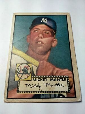 Topps 1952 Mickey Mantle New York Yankees #311 Baseball Card Ungraded