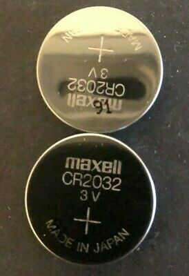 """Brand New """"2"""" Maxell CR2032 3V Lithium Coin Cell Battery, Japan, MFG Date 01/19"""
