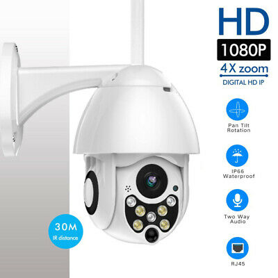 IPC 1080P WIFI IP Security CCTV Camera WHITE Wireless Outdoor HD Home IR Cam NVR