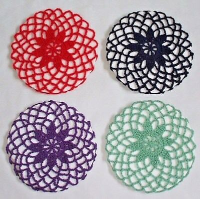 VINTAGE STYLE 1940's FLOWER SNOOD - HAND CROCHETED 14 COLOURS AVAILABLE