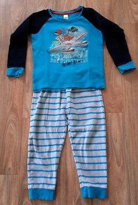 1a6fa15f82 DISNEY PLANES KINDER Shorty-Pyjama (Grau/Orange) Schlafanzug - EUR 8 ...