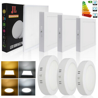 10/1x 12W 18W 24W 48W 72W Surface Mounted LED Ceiling Panel Light Flat Wall Lamp
