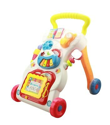Children Baby Walker 2 In 1 Musical Sounds Activity Push Along Toy Multi colour